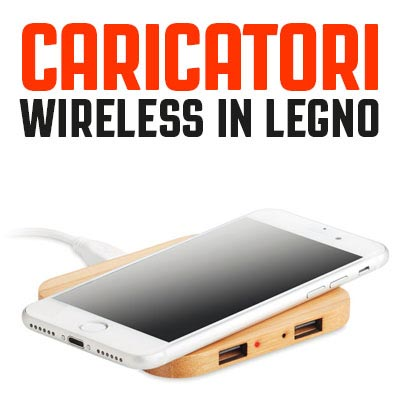 Caricatori wireless in legno