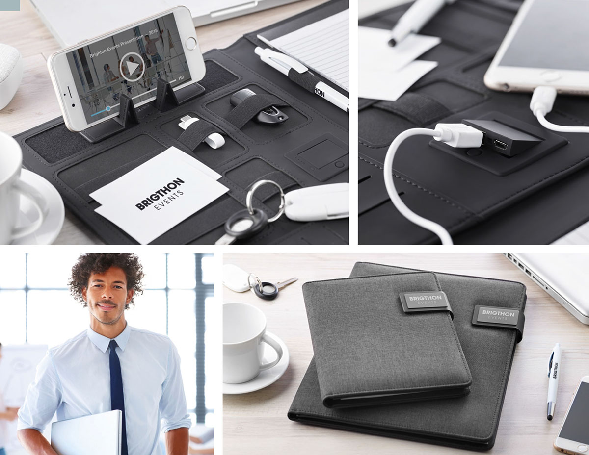 CARTELLETTA PORTA DOCUMENTI ELEGANTE CON POWER BANK