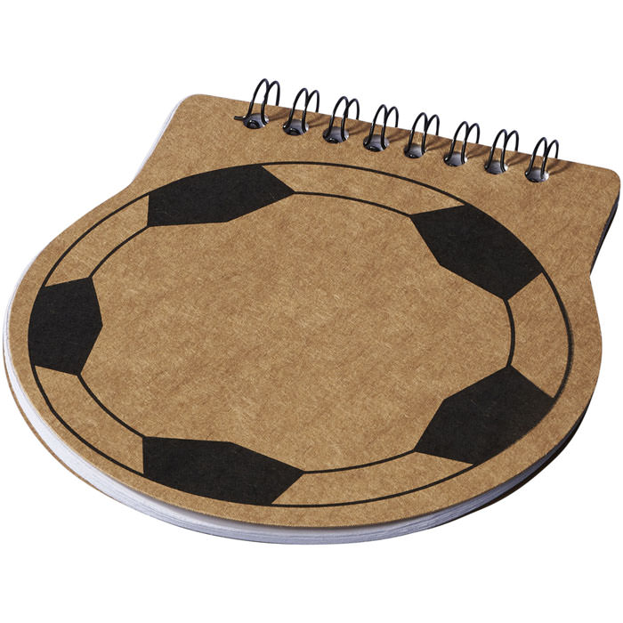 Notebook football score. Notebook con spirale di 50 fogli bianchi (70g/m2). Carta.