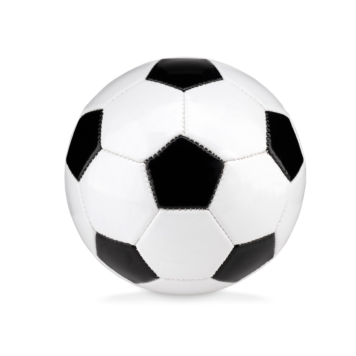 Pallone da calcio in PVC 1,6mm. Diametro 15cm. Ago per gonfiaggio incluso.