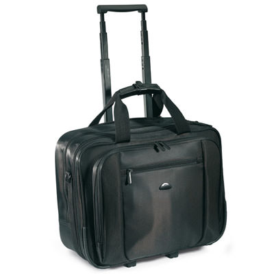 Borsa trolley per trasportare documenti e laptop. In nylon-twill 420D. Area massima di stampa 149 centimetri quadrati.
