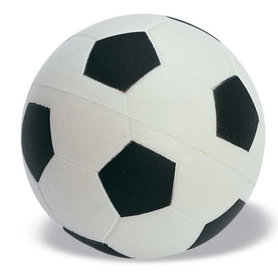 Antistress a forma di 'pallone da calcio'. In PU