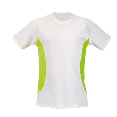 T-shirt sportivo in 100% poliestere, 135 g/m².