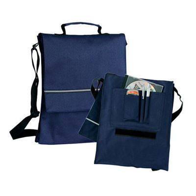 Borsa per documenti, con portapenne, tasche supplementari per cellulare e CD. Poliestere 600D.