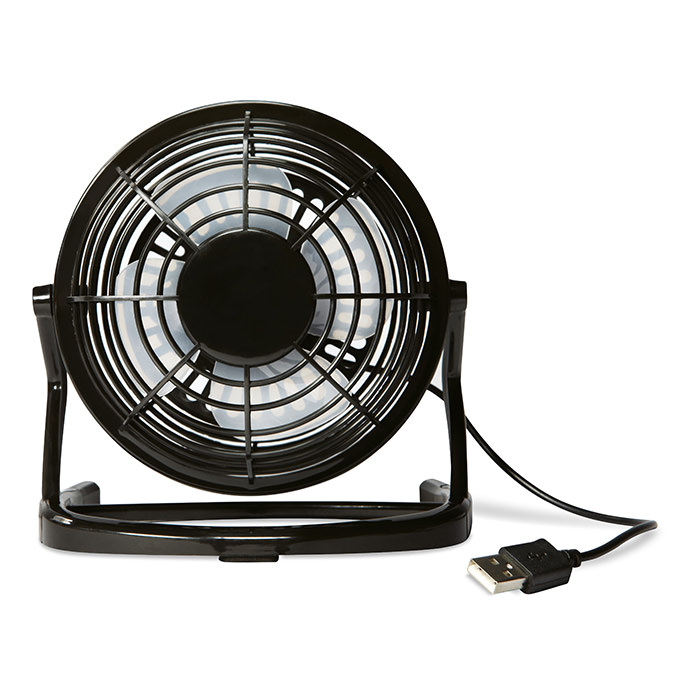 Ventilatore con cavo USB in ABS, con pulsante di on/off.