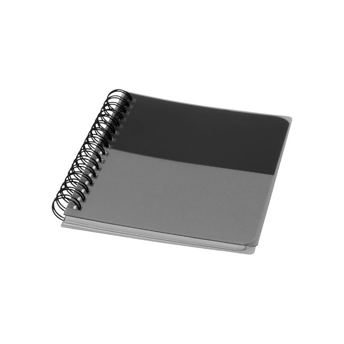 Notebook A6 Colourblock. Notebook A6 con spirale. Composto da 70 fogli bianchi a righe (70 g/m²). Plastica PP.