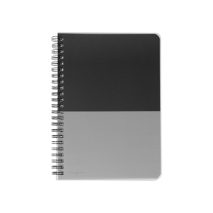 Notebook A5 Colourblock. Notebook A5 con spirale. Composto da 70 fogli bianchi a righe (70g/m²). Plastica PP.
