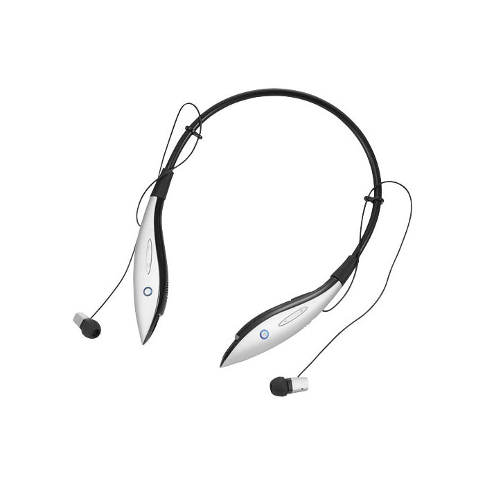Auricolari Bluetooth® con archetto Echo. Archetto Bluetooth® multifunzione forniti in custodia. Potrete usare gli auricolari per ascoltare la vostra musica preferita. Premendo il pulsante potrete riprodurre la vostra musica preferita con una qualità del suono superiore. Microfono integrato per rispondere alle telefonate. Include cavo di ricarica micro-USB e cavo audio da 3.5mm. Fornito in confezione regalo. Plastica ABS.
