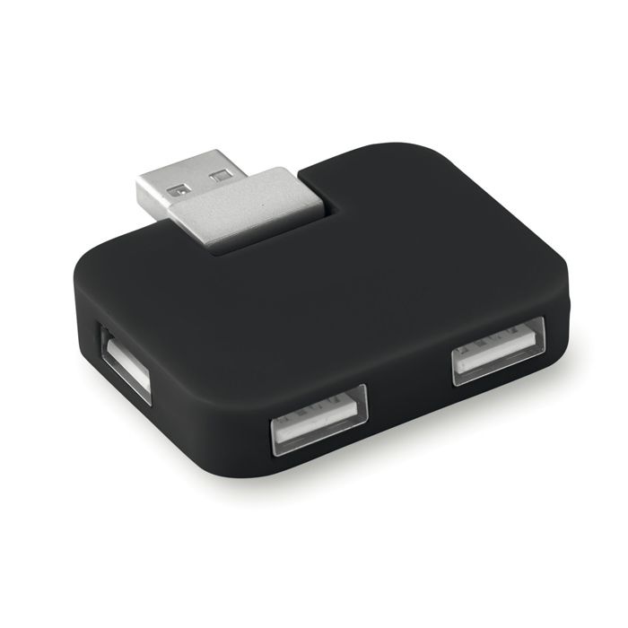 Multi presa per 4 USB. In ABS. Hub usb.