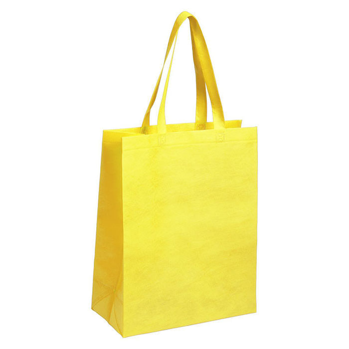 Borsa shopper in TNT con manici lunghi, 80 g/m².