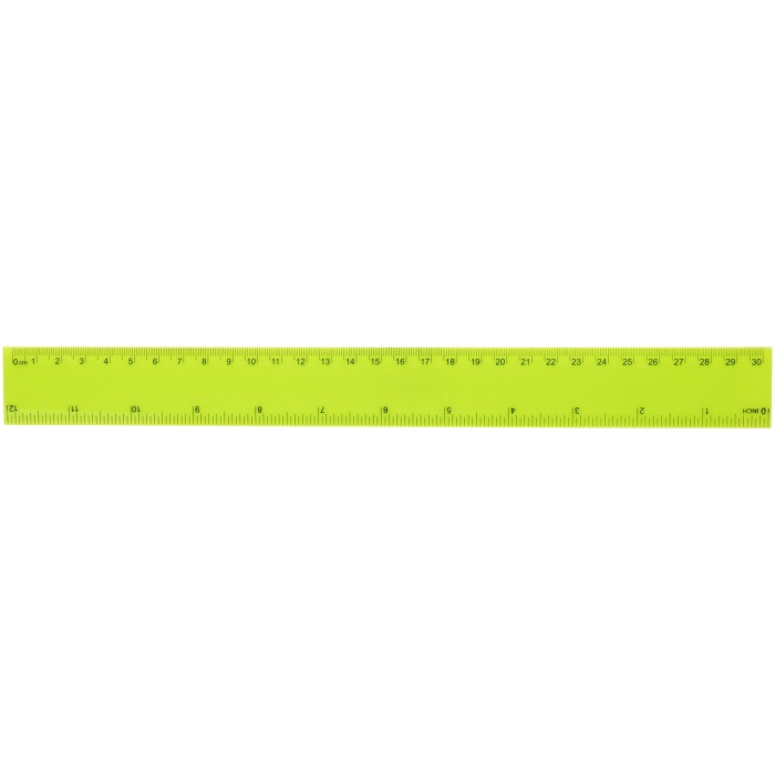 Righello 30 cm. Robusto righello in plastica con misure in pollici e centimetri. Plastica ABS.