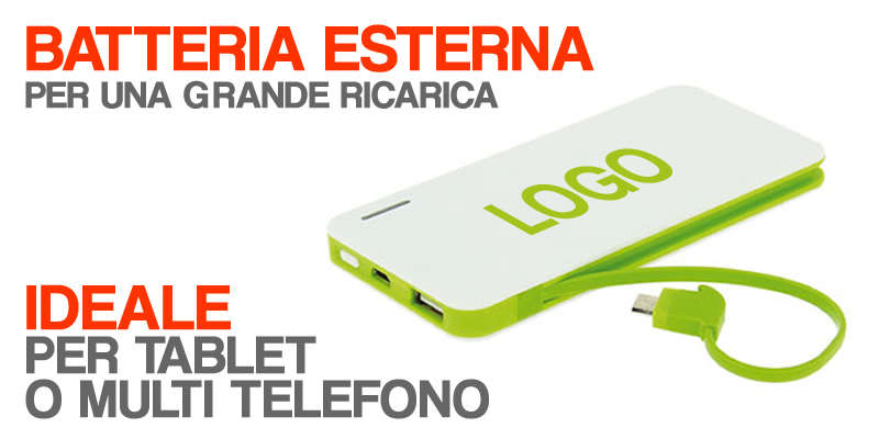 batteria esterna smart phone tablet power bank iphone ipad batteria LOGO regalo