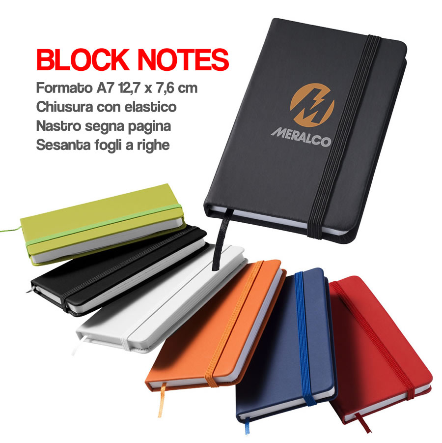 BLOCK NOTES GADGETS PER REGALO IN FIERA