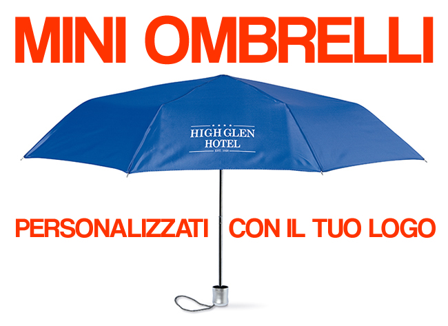 mini ombrello tascabile gadget LOGO